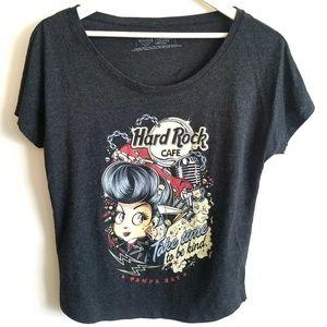 Hard Rock Cafe - Heather Gray Rebel Graphic Tee XS